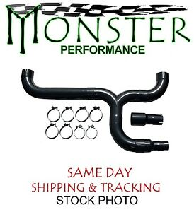 Dual Black Stack Install Kit Fits 3 5 4 5 Exhaust Monster Std005b