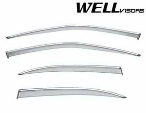 For 1995 1999 Nissan Maxima Sedan Wellvisors Side Window Visors Chrome Trim