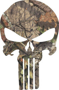 Punisher Realtree Mossy Oak Exterior Window Decal Various Sizes