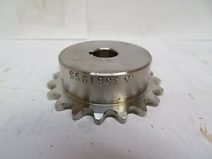 New Tsubaki Ss Stainless Steel Keyed Sprocket 35b19ss 1 2 Bore 19 Teeth