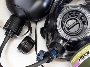 Sge 400 3 Gas Mask W drinking System Full Cbrn Nbc Protection New mfg Oct 2018