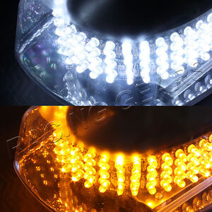 240 White Amber Led Emergency Warn Hazard Roof Top Flash Strobe Light Universal