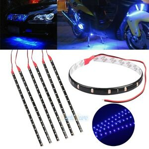 6pcs Waterproof 12 15 Dc 12v Motor Led Strip Light For Car Motorcycle Blue Usa