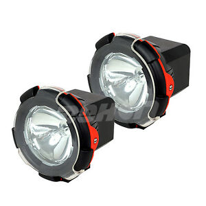 Pair 4inch 24v 55w Hid Xenon Work Light Spot Beam Offroad Boat 4wd Suv Driving