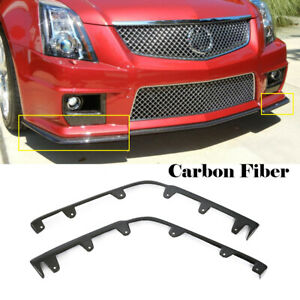Carbon Front Bumper Lip Splitter Flaps Body Kit For Cadillac Cts V 2009 2015
