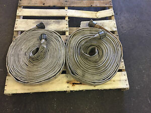 2 1 1 2 X 75 Lay flat White Mill Water Discharge Hose Assembly Lot Of 2
