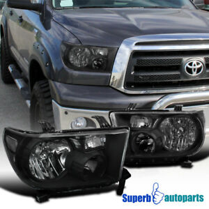 For 2007 2013 Toyota Tundra Sequoia Replacement Headlights Light right Black