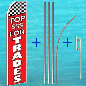 Top For Trade Flutter Flag Pole Mount Kit Tall Feather Swooper Banner Sign