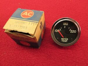 Nos 60 61 62 63 64 65 66 67 68 69 Chevy Olds Pontiac Water Temp Gauge 100 220