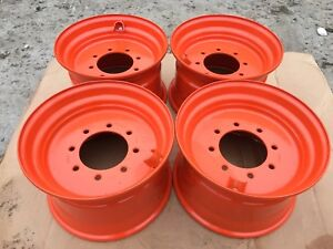 4 New 16 5x9 75x8 Skid Steer Wheel rim For Bobcat Fits 12 16 5 843 853 863 873