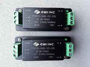 Cui Pyb10 q48 s3 din Dc dc Converter Lots Of 2