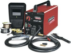 Lincoln Electric 120v Mig Flux cored Wire Feed Welder Welding Machine Weld Tools