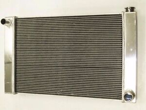 Chevy Aluminum Universal Radiator 30 X 19 X 2 2 Gm Outlets Hot Street Rod