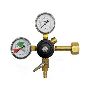 Taprite Co2 Primary Regulator Dual Gauge With 5 16 Hose Barb Made In Usa
