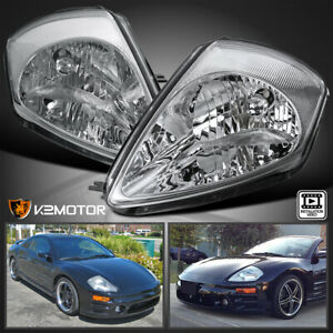 For 2000 2005 Mitsubishi Eclipse Clear Headlights Head Lamps Left right Pair