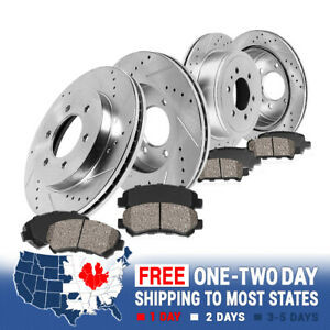 For 2002 2006 Ford Expedition Navigator Front rear Brake Rotors Ceramic Pads