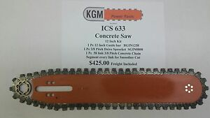 Ics 633 Chainsaw 12 Inch Concrete Kit Bar Chain And Sprocket