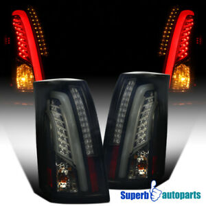 Led Bar 2003 2007 Cadillac Cts Glossy Black Smoke Lens Tail Brake Lights