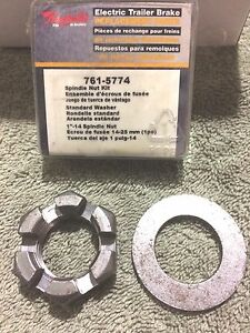 Raybestos 761 5774 Electric Trailer Brake Spindle Nut Kit 1 14