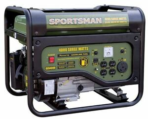 New 3 6 Gal 4 000 watt Unleaded Gasoline Powered Portable Generator W Rv Outlet