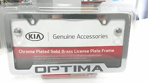 Kia Optima Chrome License Plate Frame Ur010 Ay100mg Oem 50 State Certified