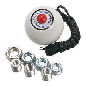 B M 46112 White Shifter Knob With 12 Volt Button Switch Sae Threads