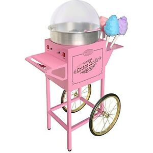 Cotton Candy Cart Sugar Floss Maker Machine Vintage Carnival Style Electric