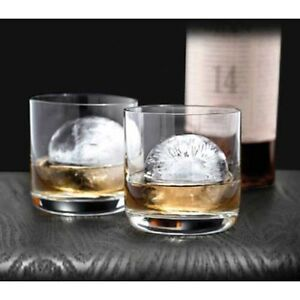 Tovolo Silicon Sphere Ice Ball Molds Tray Scotch Whiskey Bourbon Craft Cocktail