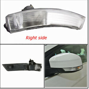 Wing Mirror Indicator Lens Right Turn Signal Light Cover For Ford Focus 08 2016