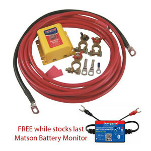 Dual Battery Kit With Parallel Switch 12 Volt Matson Brand 4wd Offroad Caravan