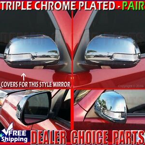 2010 2011 2012 2013 Toyota 4runner Chrome Mirror Covers Overlays W Signal Cutout