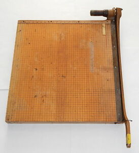 Vintage Ingento 1152 25 Guillotine paper Cutter R11429