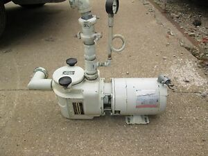 Marlow Drycleaning Machine Pump 1 1 2 Hp With Strainer