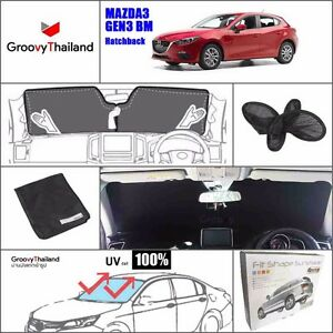 1 Pc Front Windshield Foldable Curtain Car Sun Shade Fit Mazda 3 Bm Hatchback