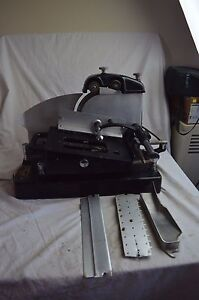 Vintage American Slicing Machine Meat Cheese Slicer W blade Sharpener Deli 1930s