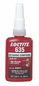 250ml Retaining Compound635 Hi Strg slow Cure Loctite 63541