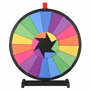 Winspin 24 Tabletop Color Prize Wheel Of Fortune 18 Slot Spin Game Tradeshow