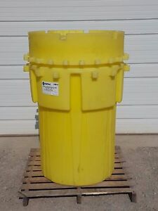 Enpac 1180 ye Poly overpack 180t Overpack Drum 180 Gallons Spill Capacity