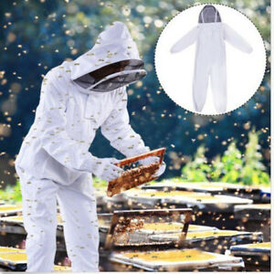 Professional Full Body Beekeeping Bee Keeping Suit Veil Hood Cotton