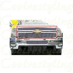 For Chevy Silverado 2500 3500 2011 2012 2013 2014 Upper Billet Grille Inserts