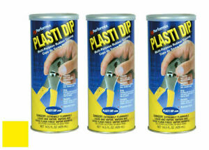 Plasti Dip 11602 6 Multi purpose Yellow Synthetic Rubber Coating 14 5oz 3 Pack