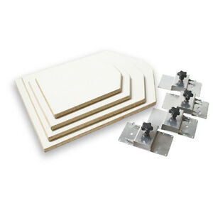 Screen Printing Platen Neck Cut Pallet Starter Kit 4 Platens And 4 Brackets