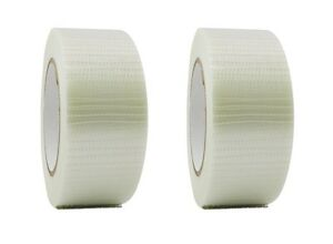 2 Rolls Bi directional Filament Strapping Tape 2 X 60 Yd Free Shipping