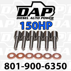 6 150hp Nozzles Fits Dodge Ram Cummins Diesel 1998 2002 Injectors Vp44 150 Hp