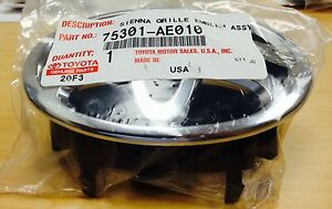 Genuine Toyota Sienna 2007 Front Grille Emblem In Chrome Oem Brand New