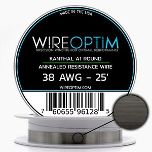 38 Gauge Awg Kanthal A1 Wire 25 Length Ka1 Wire 38g Ga 0 10 Mm 25 Ft