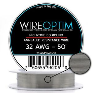 32 Gauge Awg Nichrome 80 Wire 50 Length N80 Wire 32g Ga 0 20 Mm 50 Ft