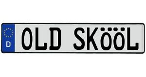 Old Skool Bmw Audi Jdm Vw Volvo Vw European License Plate Your Text Genuine