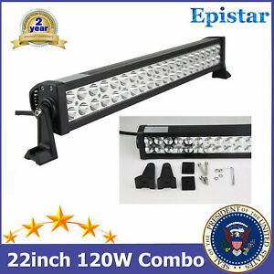 22 Inch Epistar 120w Led Light Bar Flood Spot Combo Beam Off Road Truck Lamp 24