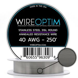 Ss 316l 40 Awg Stainless Steel Wire 316l 0 0799mm 250